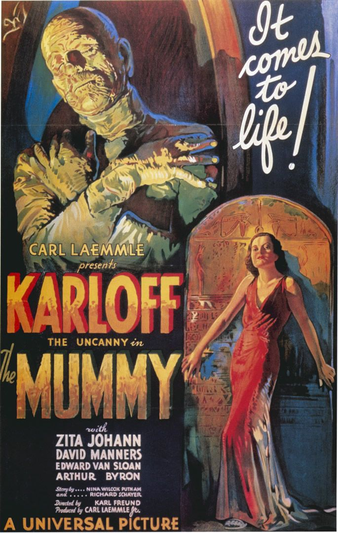 1930 The Mummy Movie Poster Classic Horror Movies Posters Movie Posters Vintage Old Movie Posters