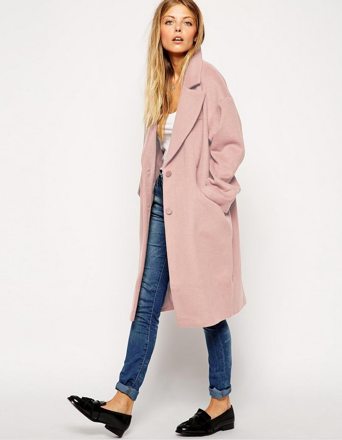 long coat with revers