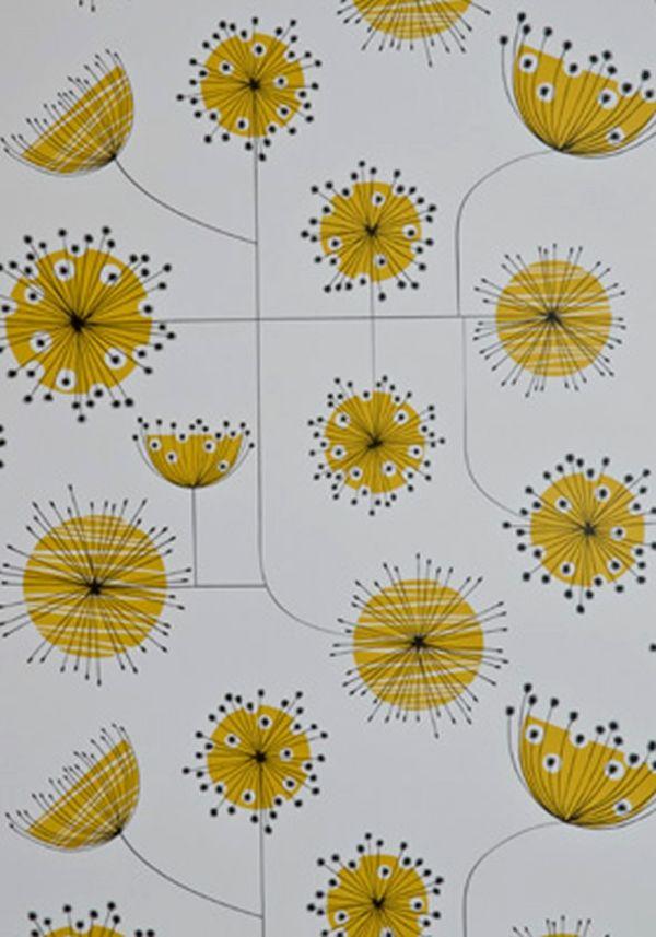 tapeten wohnzimmer gelb octavaco