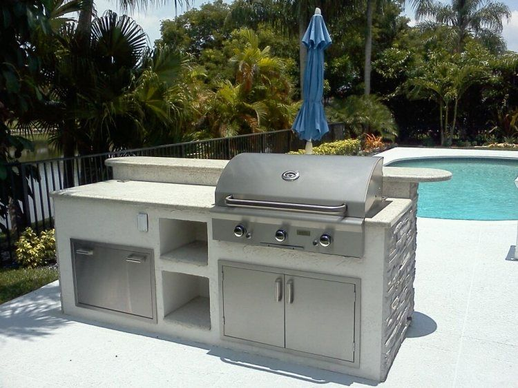 Barbecue extérieur dans votre espace  lu0027idée vous tente - Piscine A Construire Soi Meme