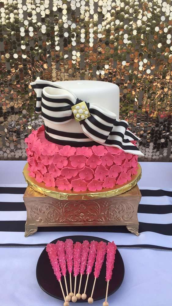 The birthday cake at this Kate Spade inspired Birthday Party is ...