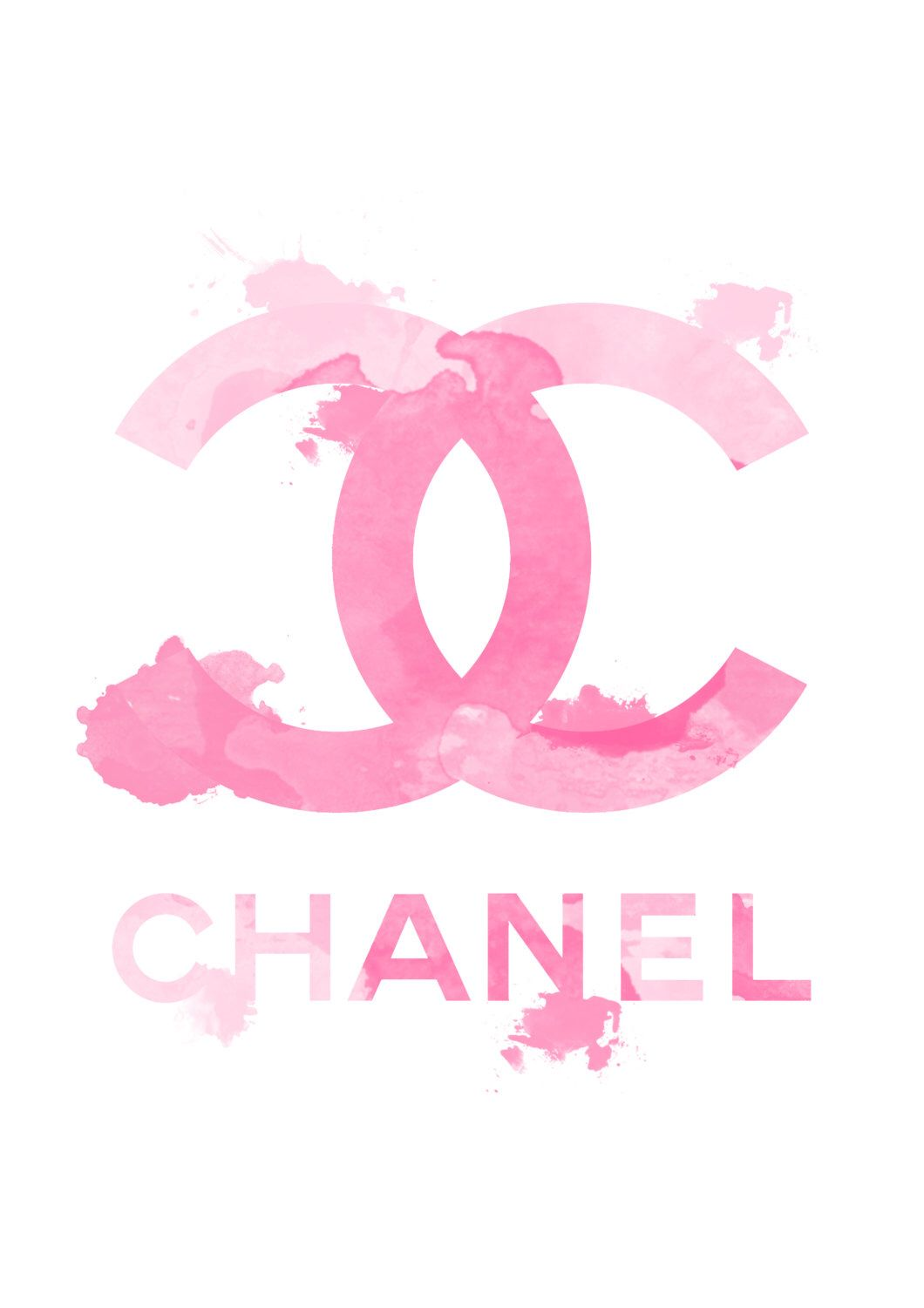 Chanel Logo Fashion Illustration And Watercolor Art Print Titled Quot Pink Chanel Quot By Koma Art Chanel Wallpapers Pink Art Print Chanel Art