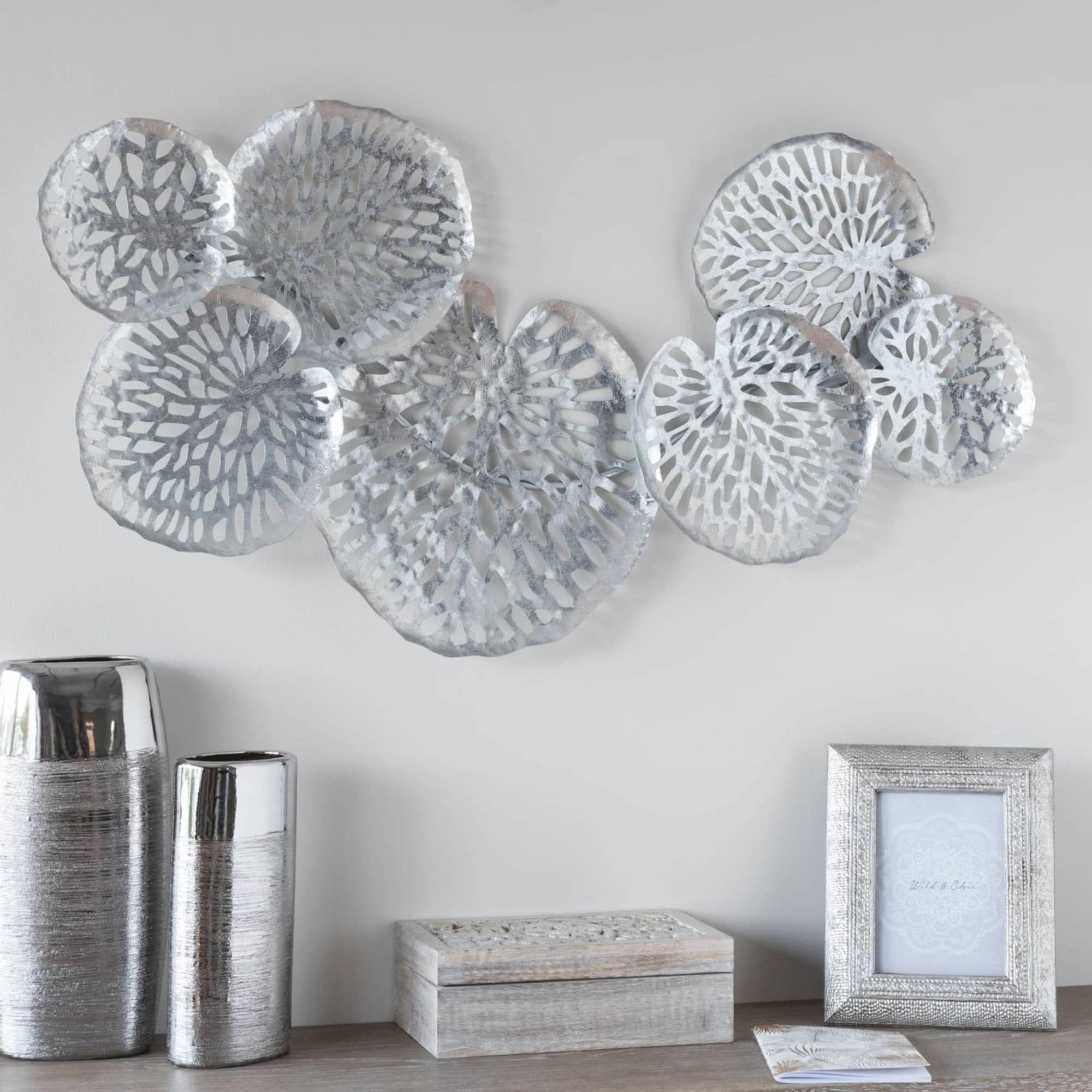 Wall Plaques Door Plaques Lettering Typography Blocks Silver Wall Art Metal Wall Art Living Room Metal Wall Art Decor
