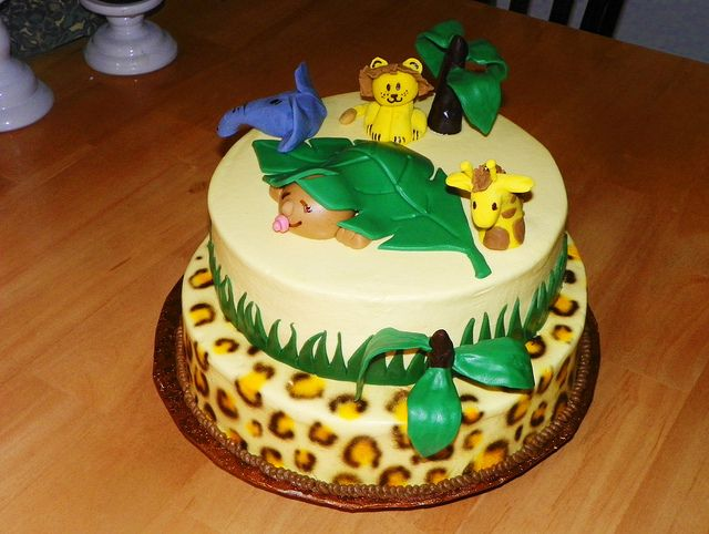 Baby Shower Cake Ideas Zoo Animals ~ Baby diaper cake zoo animals tiger lion theme jungle shower gift