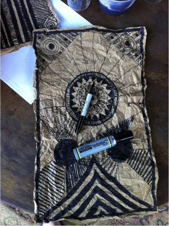 Tutorial African Mud Cloth/Textile Art School art