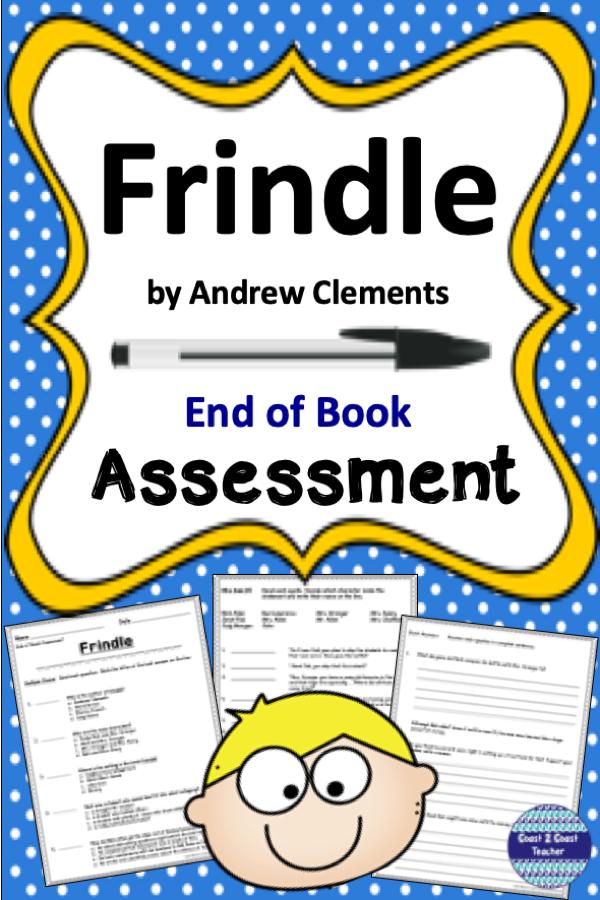 Frindle End Of Novel Assessment Third Grade Literacy Frindle