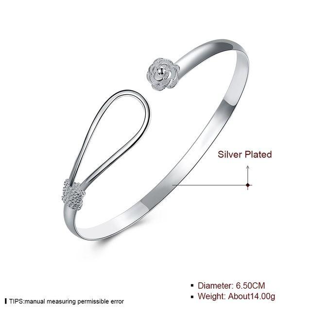 925 Schmuck Armband Spange Schmuck NEU Luxus Damen Armreif Silber plat
