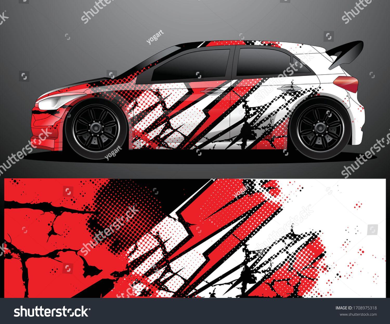 Rally Car Decal Grafik Wrap Vektorillustration Stock Vektorgrafik Lizenzfrei 1708975318 In 2020 Fahrzeugaufkleber Vektorgrafik Abstrakte Hintergrunde