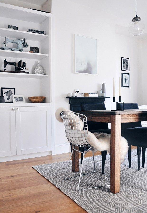 Our dining room makeover skandinavische teppiche teppich esszimmer esszimmer und wohnzimmer - Teppich esszimmer ...
