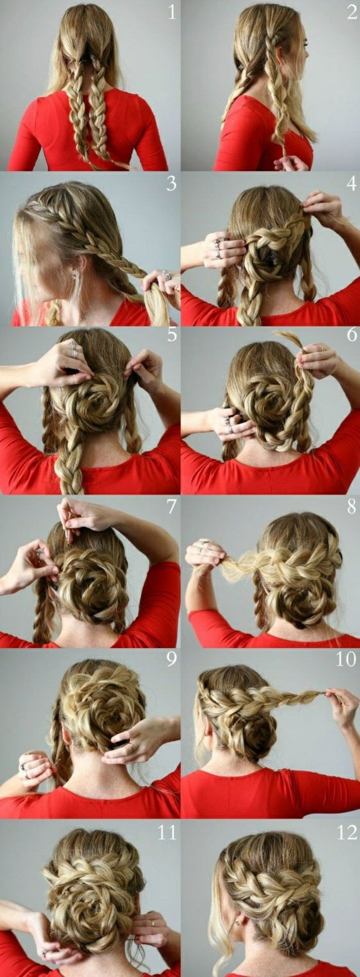 make updos yourself: 58 instructions for effective