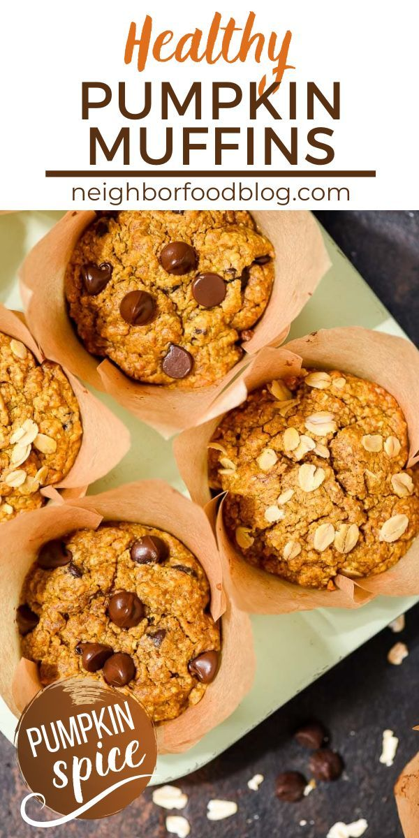 Healthy Pumpkin Muffins (with chocolate chips!) |