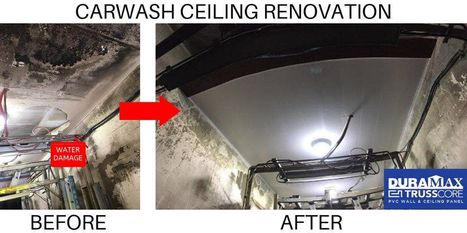 Check out this amazing Car Wash ceiling renovation done by