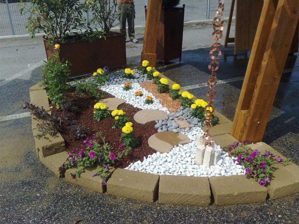 risultati immagini per giardini con aiuole e sassi su