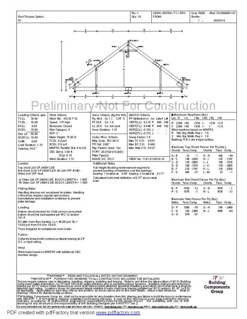 New 24 X34 Detached Garage With Attic Trusses Detached Garage Attic Truss Garage Plans With Loft