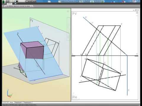 Intersecciones De Recta Con 3a Prisma Oblicuo Youtube En 2020 Geometria Descriptiva Tecnicas De Dibujo Geometria
