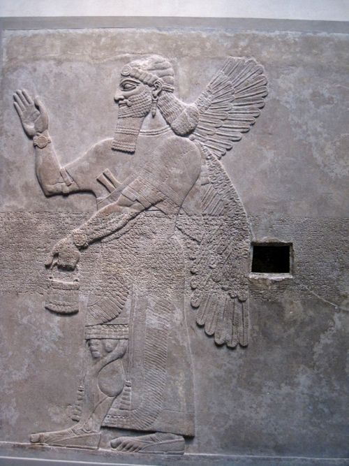 Assyrian relief from the Northwest Palace of king Ashurnasirpal II in Nimrud (883-859 BCE). The Metropolitan Museum of Art, New York City, NY. Photo by Babylon Chronicle