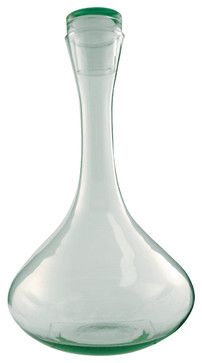 Beautiful Recycled Glass Decanter Contemporary Barware