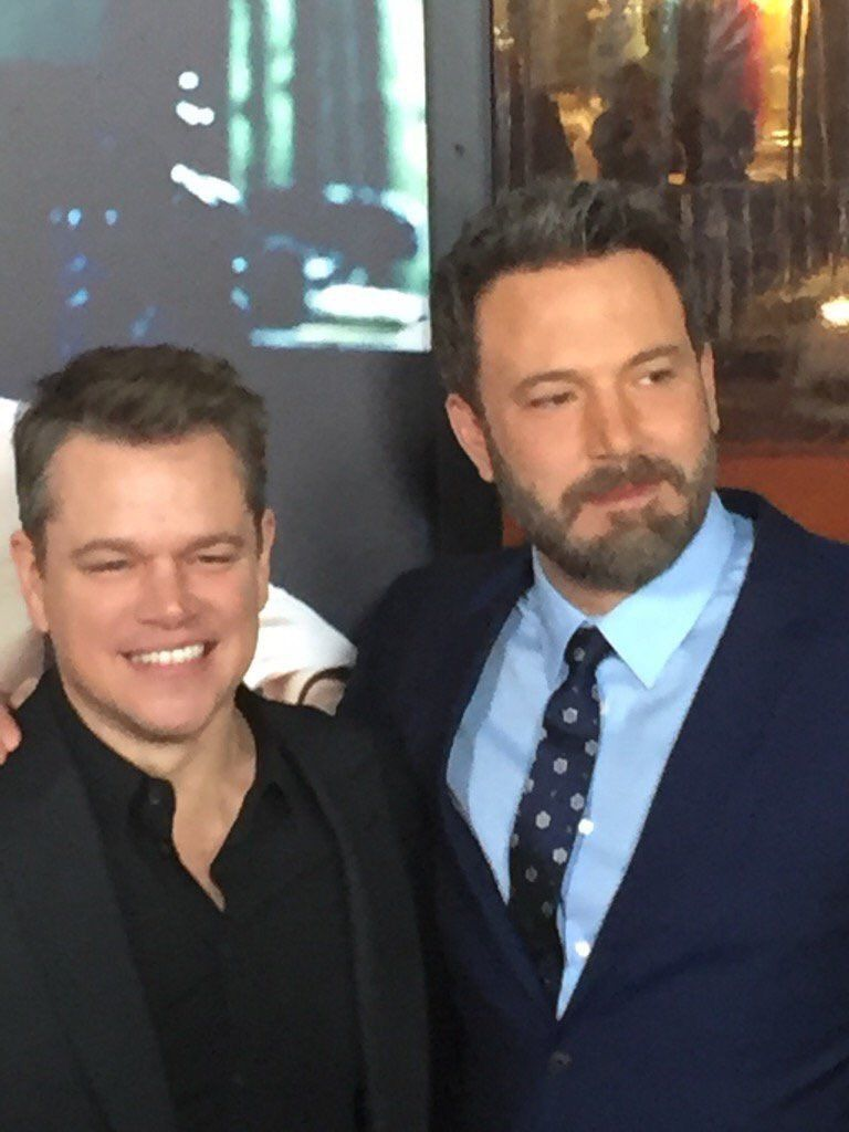 Ben Affleck with Matt Damon at the Live By Night Premiere in L.A (January 9)