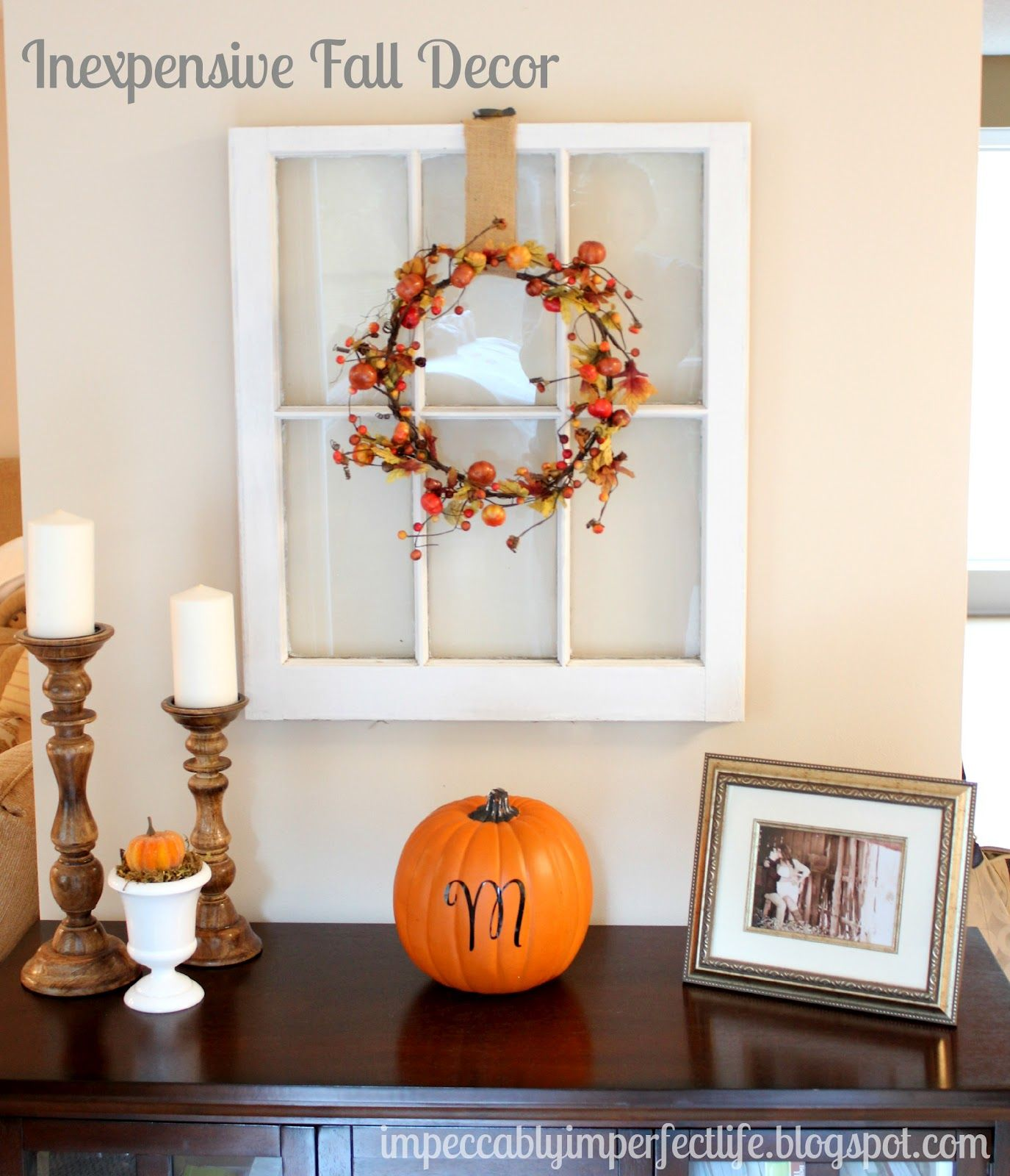 window pane fall decor   ~Fall~   Pinterest   Window ...