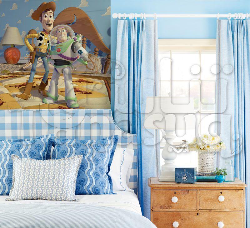 ورق حائط جدران اطفال كرتون انيميشن حكاية لعبة وودي و باز يطير Home Decor Furniture Decor