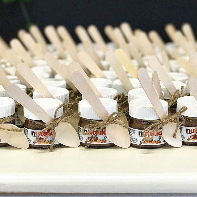 Nutella Bonbonniere for a Bridal Shower!! #bonbonniere