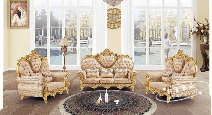 Uberlegen Amerikanischen Antiken Stil Wohnzimmer Sofa In Hoher Qualität Samt Stoff  Mit Carving 8521