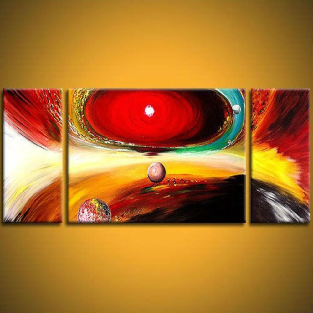 Solar system & planet 3 piece wall art | free shipping & framed ...