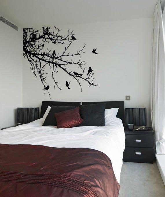vinyl wall decal sticker birds tree branch 1002m ruangan on wall stickers stiker kamar tidur remaja id=30405