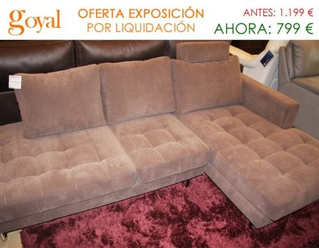 Oferta por liquidaci n sof de 3 plazas con chaiselonge for Liquidacion sofas online