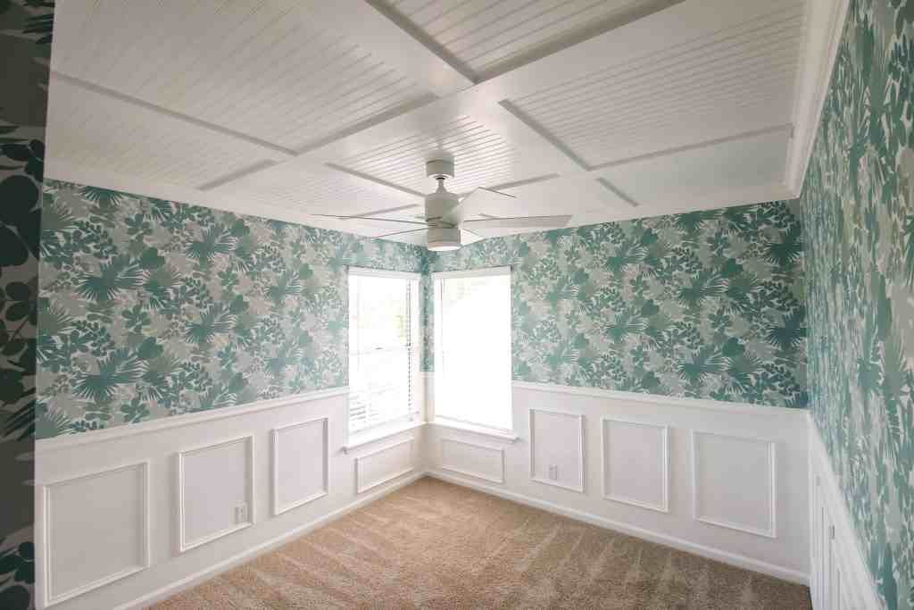 Diy coffered ceiling home plank walls