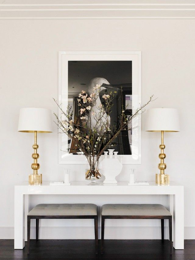 9 Simple Decor Tricks That Guarantee A Polished Space Console Table Decorating Dining Room Console Modern Console Tables
