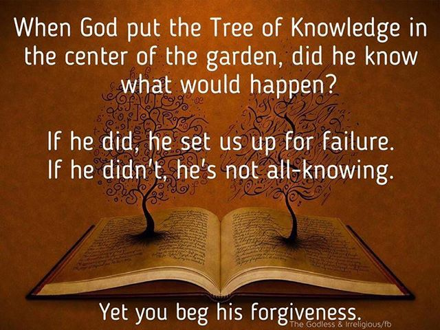 When God Put The Tree Of Knowledge In The Center Of The