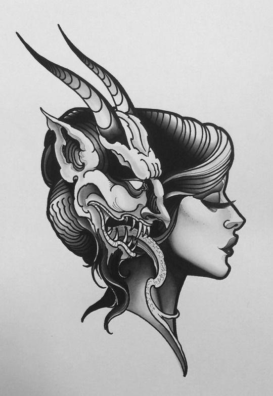 3d Horror Teufels Tattoo Tatuering Frisyrer