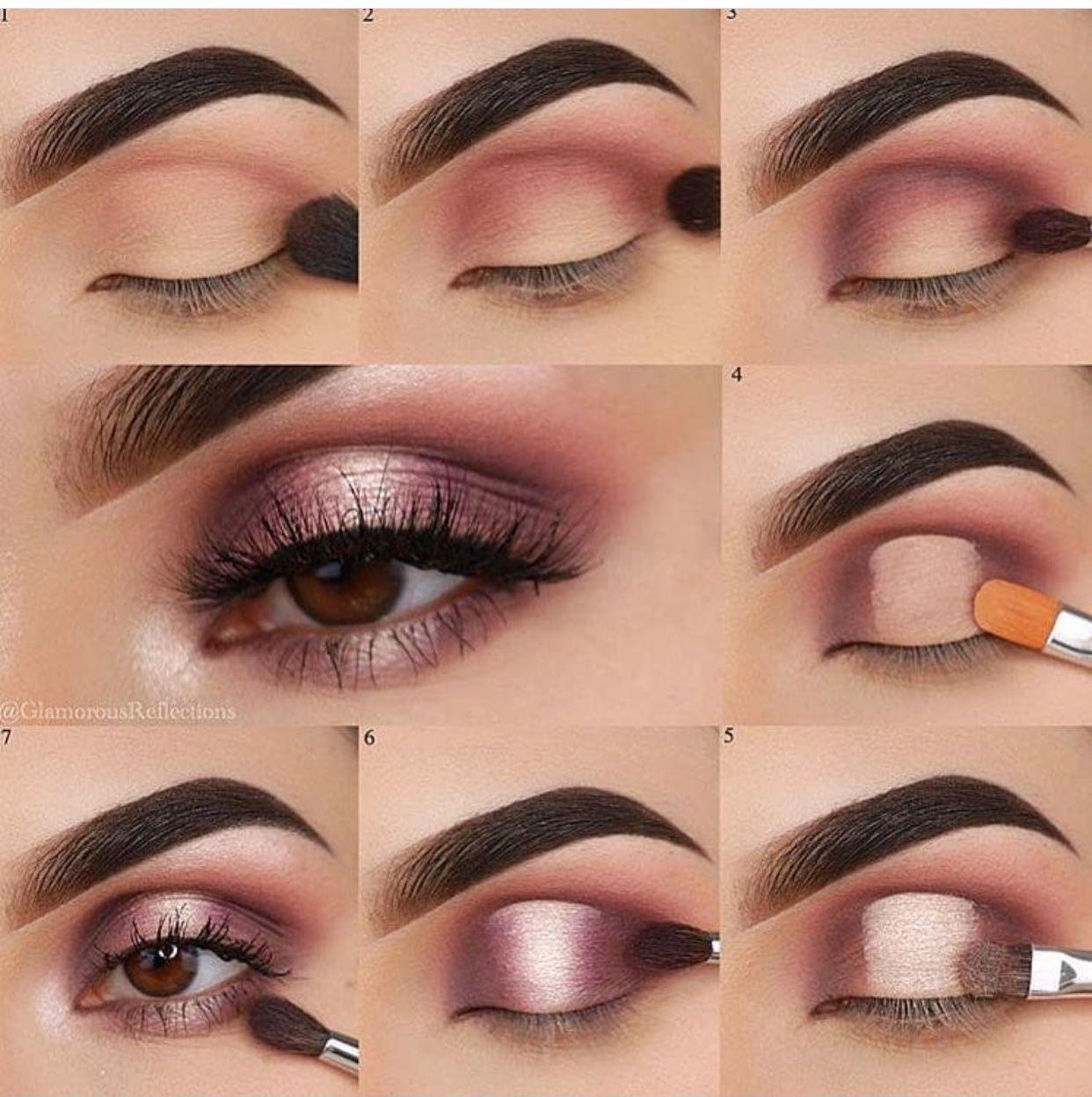 Dramatic eyes makeup steps Matte eye makeup, Applying