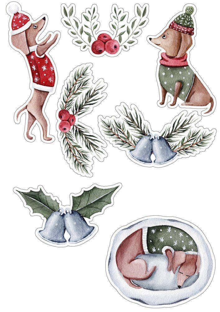 скрапбукинг новый год картинки для вырезания одета милые