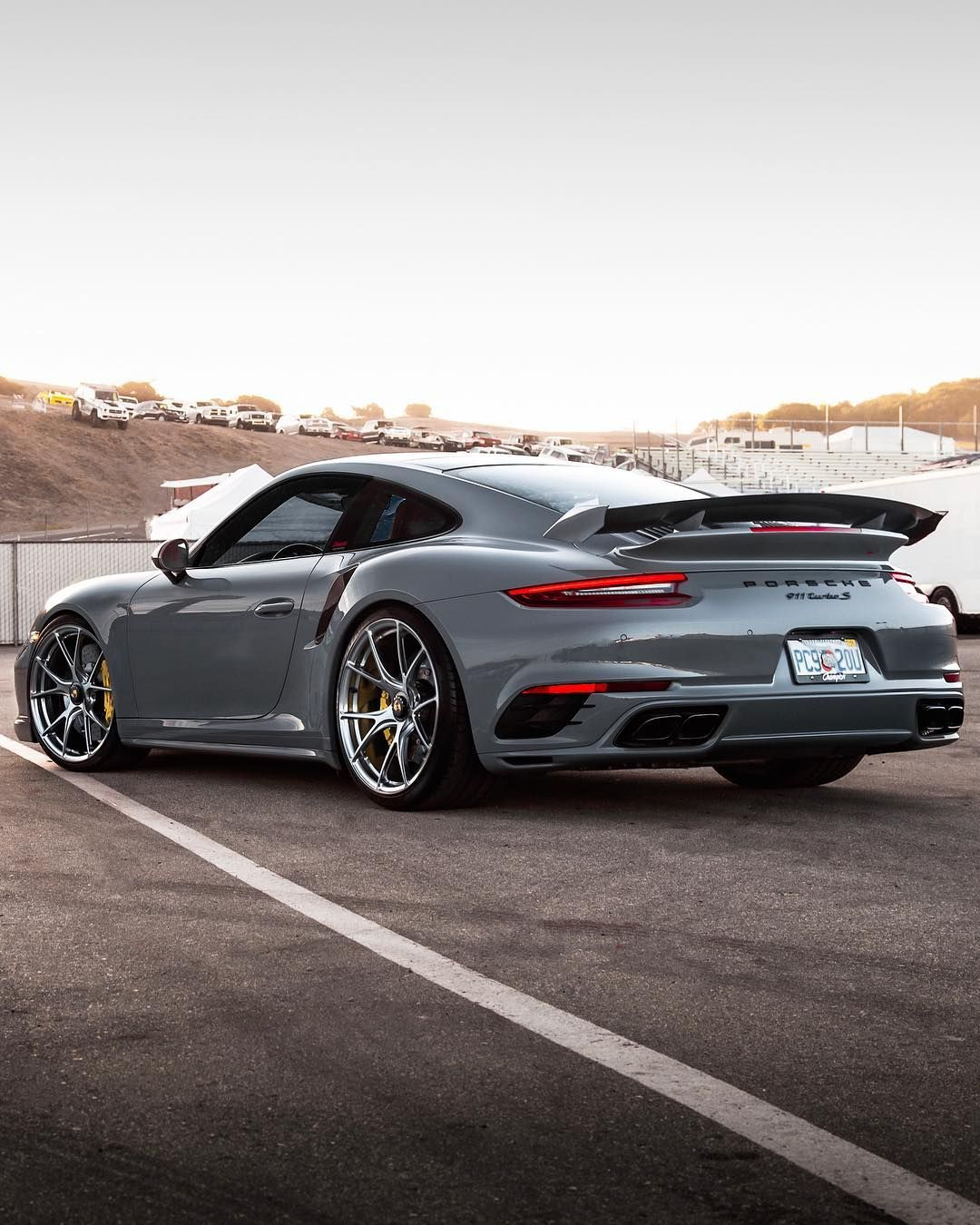 Best Color On A Porsche The Championporsche Nardo Grey Turbo S Porsche Vossen Super Sport Cars Nardo Grey Porsche Sports Car