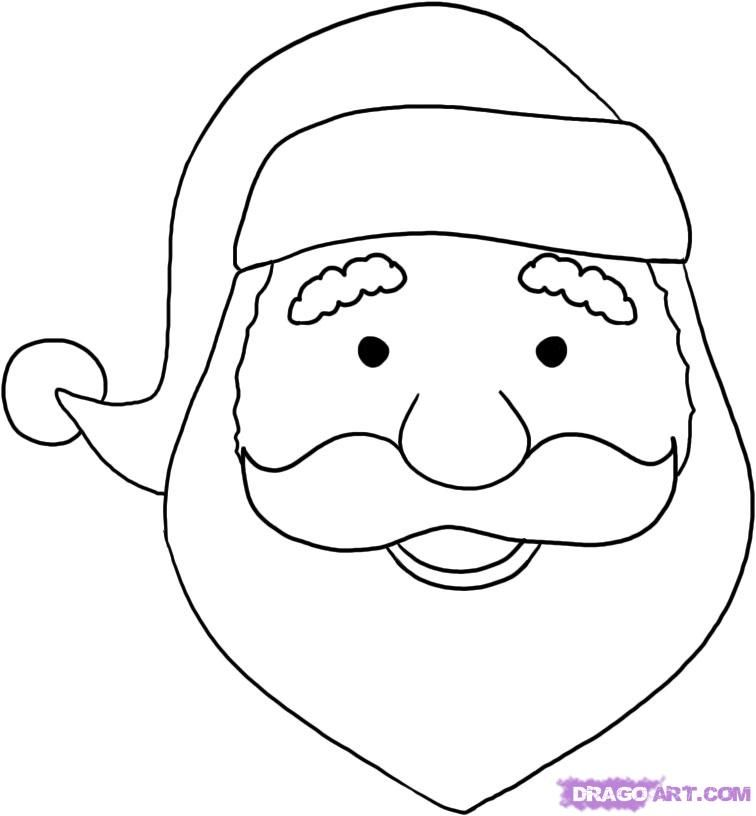 Easy To Draw Santa Claus Face Easy Christmas Drawings Christmas