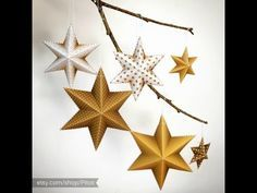 How to make a 3D paper star (6 points star)