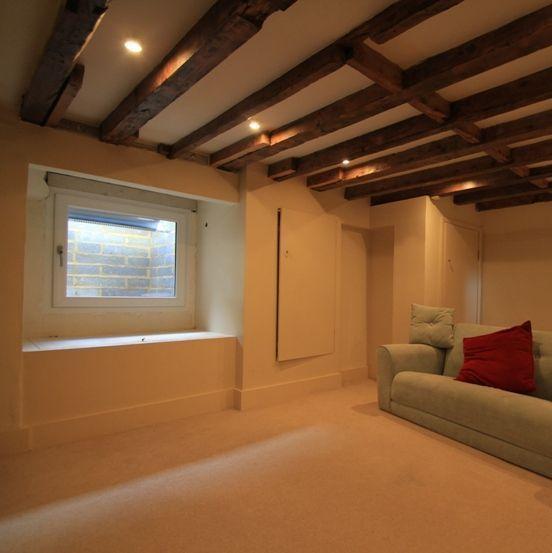 Basement Ideas Basement Home Theater Basement Basement: Basement With Light Well BEFORE Our Natural Light System