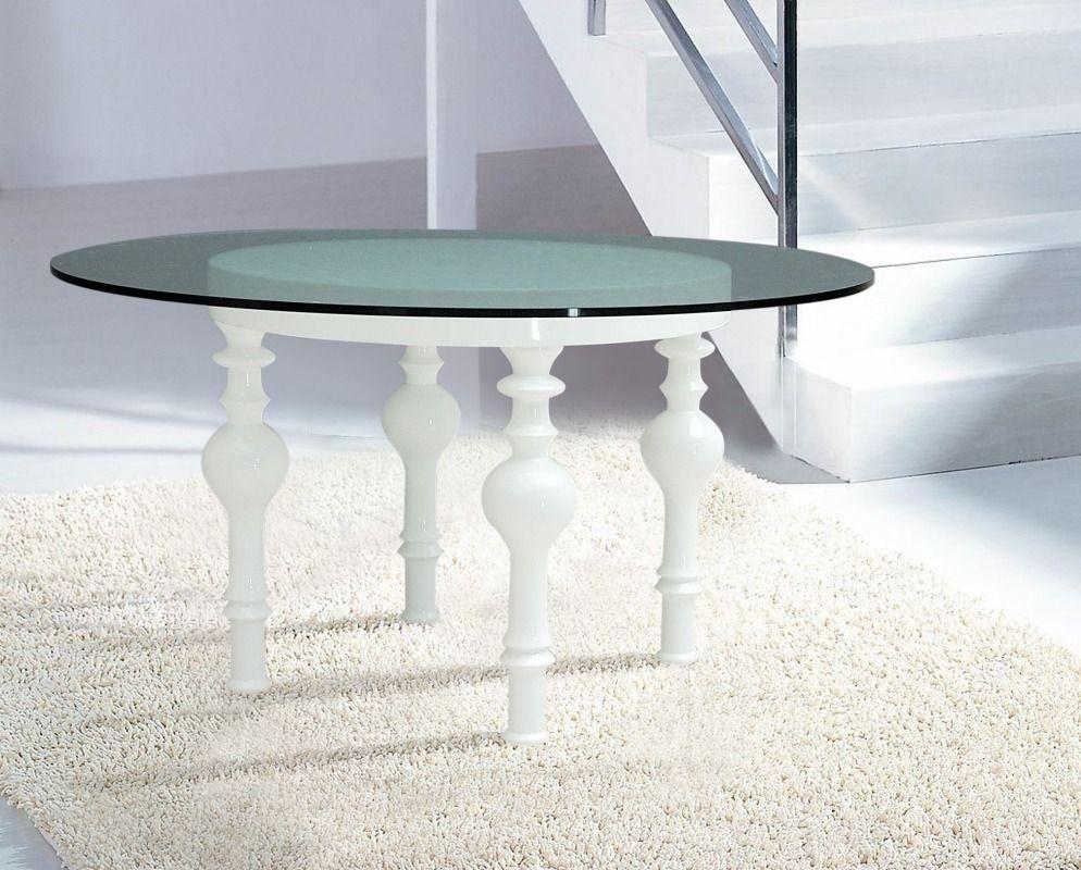 Stylish Design Furniture Nayri White Round Glass Dining Table 885 00 Http Www Stylis Glass Round Dining Table Glass Dining Table Modern Dining Furniture [ 800 x 994 Pixel ]