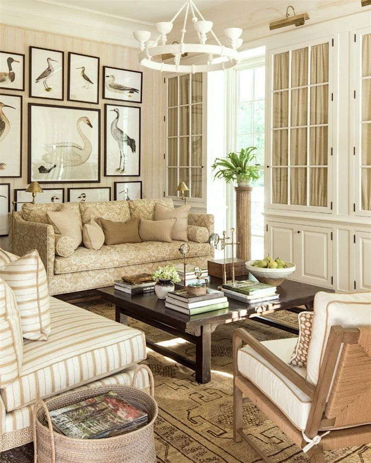 Interior Design Lessons We Can Learn From The Masters Southern Living Homes Beige Living Rooms Farm House Living Room
