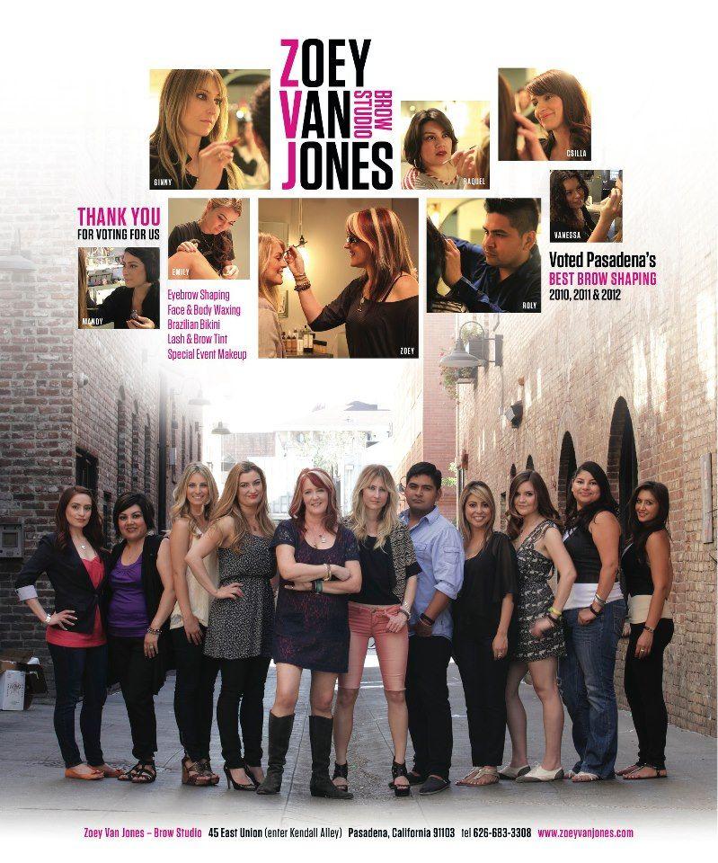 Zoey Van Jones Brow Studio Pasadena Ca Zoeyvanjones Pinterest