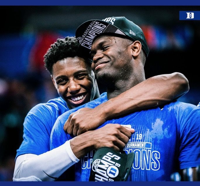 RJ Barrett and Zion Williamson Duke blue devils