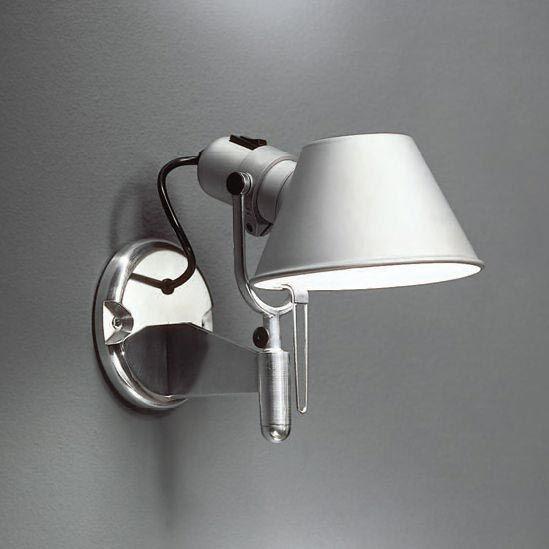 Artemide Tolomeo Micro De Pared Terminacion Como Muestra La Foto Contemporary Wall Lamp Wall Lamp Metal Wall Light