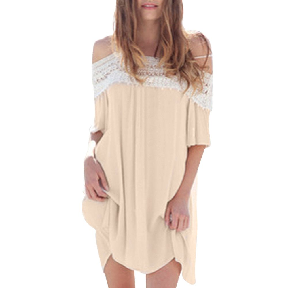 Click to buy ucuc oversized women loose casual dress summer ladies