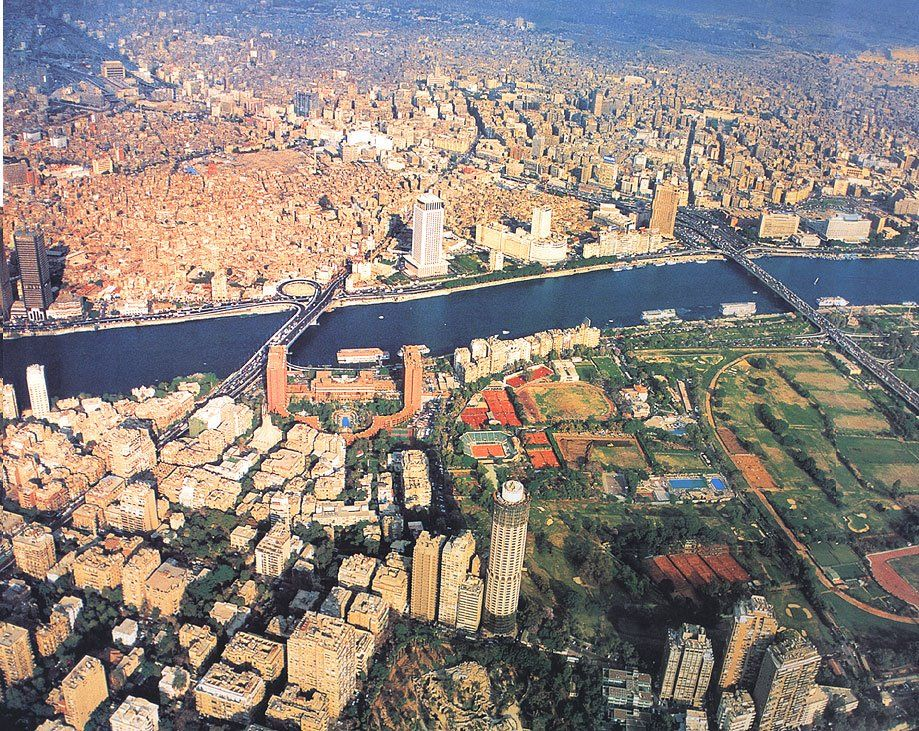 Cairo from a plane