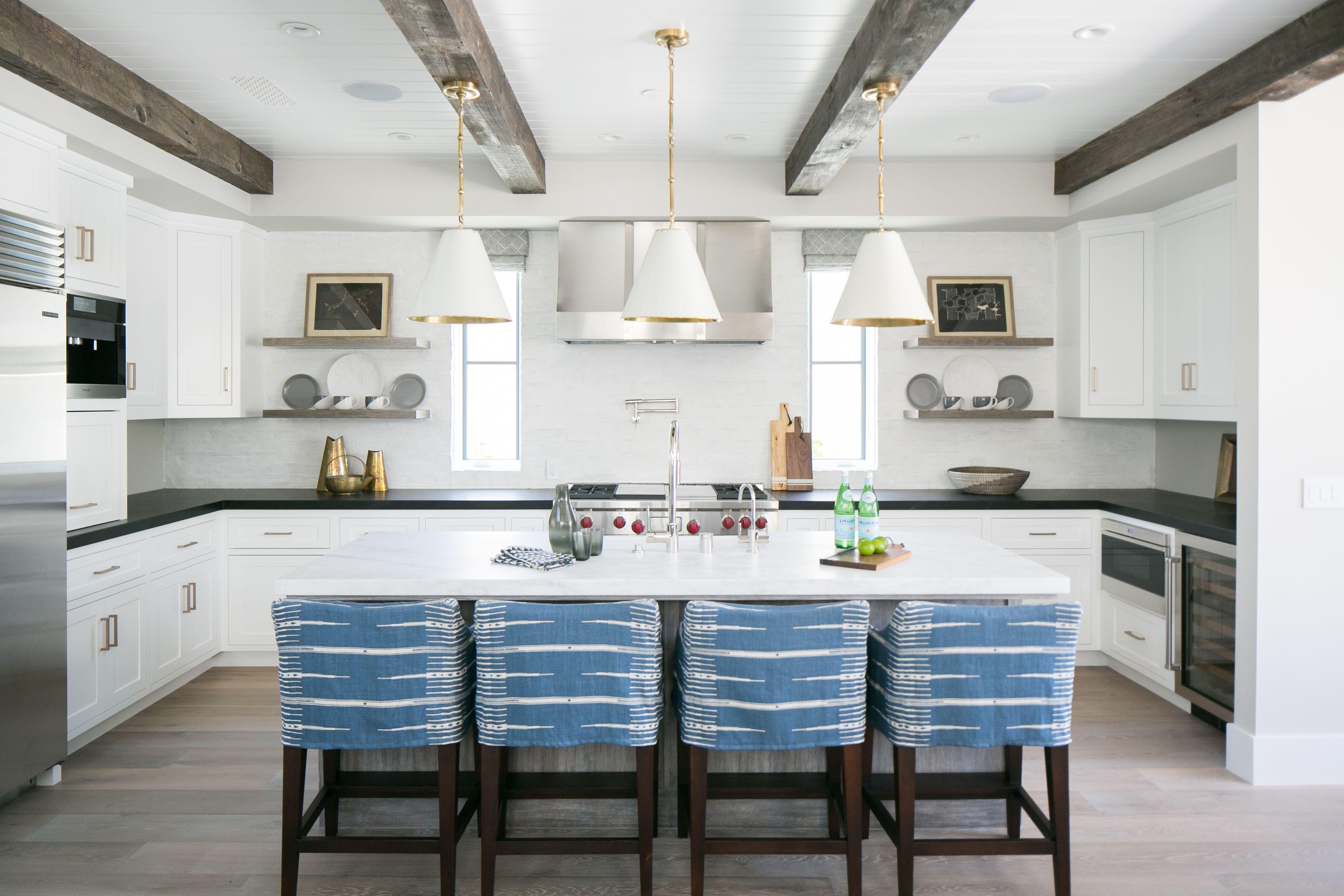 Kitchen White Kitchen Reclaimed Wood Beams Home Kitchens Home Kitchen Design