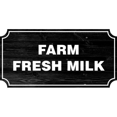 Farm Fresh Milk Farmhouse Country Sign, Rustic Wall Decor Living ...