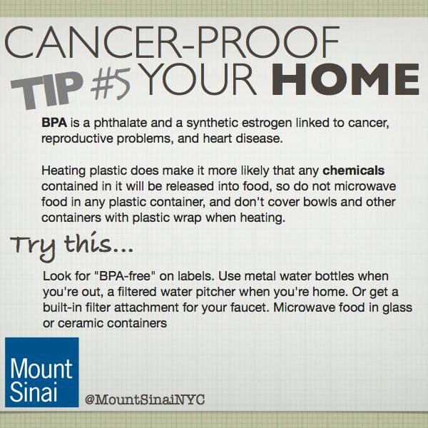 Cancer Proof Your Home Tip 5 Stay Away From Bpa Learn More