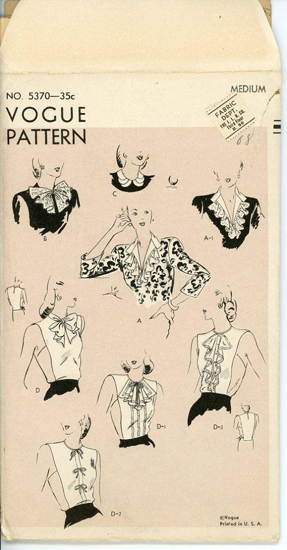 dickeys degli anni quaranta e collari modello Vogue di CynicalGirl ...